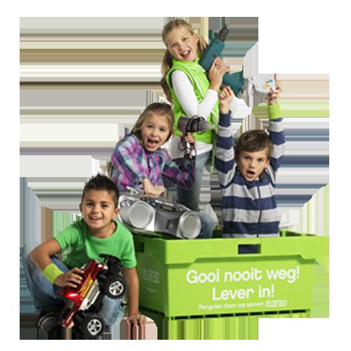 Kinderen-in-groene-bak