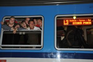 Onze laatste trein op het traject Amsterdam - Cesky Raj